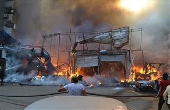 السيطرة على حريق هائل بمدينة ملاهي ومركز تجاري بشارع العريش في الهرم  صور