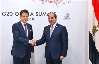 الرئيس السيسي يلتقي رئيس الوزراء الإيطالي على هامش انعقاد قمة مجموعة العشرين | صور
