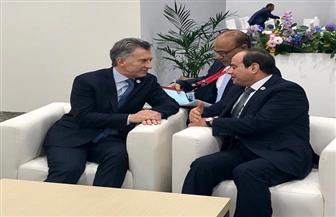 الرئيس السيسي يلتقي نظيره الأرجنتيني على هامش أعمال قمة مجموعة العشرين