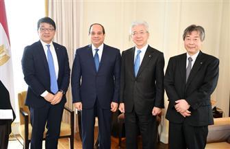 المتحدث الرئاسي: الرئيس السيسي يلتقي بمقر إقامته بأوساكا رئيس مجلس إدارة شركة تويوتا تسوشو