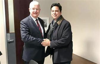 سفير مصر لدى نيوزيلندا يلتقي أمين عام المكتبة الوطنية | صور