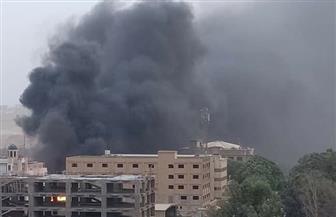 السيطرة على حريق هائل داخل أحد المصانع بزهراء المعادى   صور