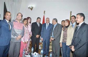 """وفد من """"الحرية المصري"""" يهنئ محافظ الجيزة بعيد الفطر المبارك"""