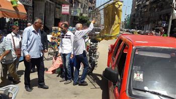 تواصل حملات إزالة الإشغالات بأحياء بورسعيد في ثاني أيام العيد| صور