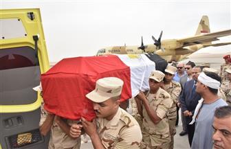 تشييع جثمان الشهيد أبانوب مرزوق في جنازة عسكرية بأسيوط|صور