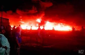 حريق ضخم في مصنع بلاستيك بجوار شركة الدلتا للأسمدة بالدقهلية|صور