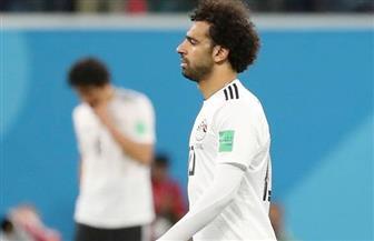 محمد صلاح يشارك في المران المسائي للمنتخب ببرج العرب