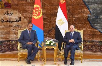 الرئيس السيسي يؤكد حرص مصر على ترسيخ التعاون الإستراتيجي مع إريتريا
