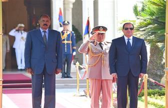 الرئيس السيسي يستقبل نظيره الإريتري أسياس أفورقي بقصر الاتحادية
