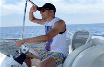 كيلور نافاس حارس ريال مدريد الإسباني في رحلة بحرية بالغردقة | صور
