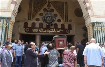 تشييع جنازة عزت أبو عوف من مسجد السيدة نفيسة | صور