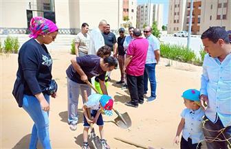 جهاز مدينة القاهرة الجديدة يطلق مبادرة لزراعة الأشجار | صور