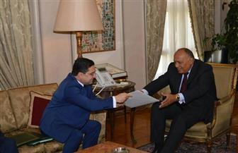 وزير الخارجية يتسلم رسالة من العاهل المغربي للرئيس السيسي | صور