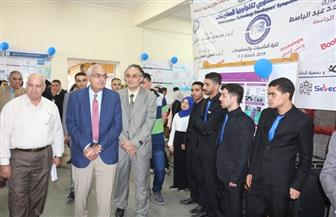 افتتاح المعرض الأول لمشاريع تخرج كلية الحاسبات والمعلومات جامعة المنصورة | صور