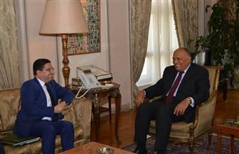 تفاصيل لقاء وزير الخارجية ونظيره المغربي