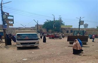 حملة مكبرة لتطهير ميدان العياط من الباعة الجائلين | صور