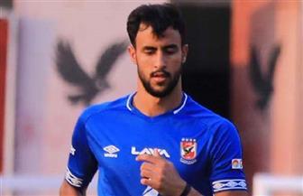 أحمد علاء يغادر مران الأهلي بسبب الإصابة