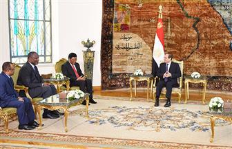 الرئيس السيسي يستقبل رئيس وزراء تنزانيا ويشيد بقوة الدفع التي تشهدها العلاقات الثنائية