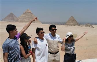 رئيس مدغشقر وعائلته يزورون منطقة آثار الهرم| صور