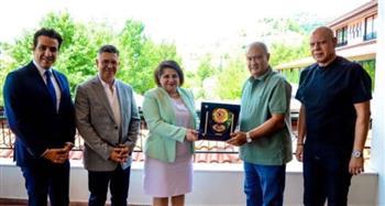 سفيرة مصر بقبرص تزور معسكر الزمالك