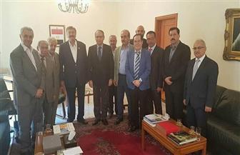سفير مصر بلبنان يستقبل وفدا من مؤتمر بيروت للعروبيين اللبنانيين