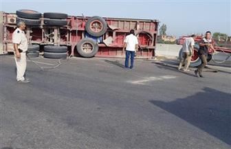 إغلاق الطريق الإقليمي الدائري في المنوفية| صور