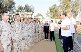 الرئيس السيسي يزور الكلية الحربية فجر اليوم
