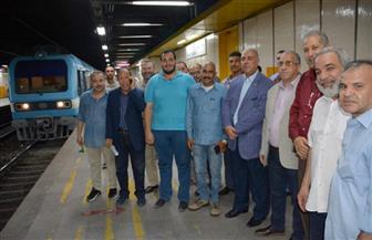 رئيس شركة مترو الأنفاق والعضو المنتدب يتفقدان عددا من محطات الخط الأول| صور