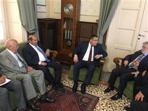 محافظ الإسكندرية يبحث التعاون مع رئيس هيئة مينائي كتانايا وأوجوستو الإيطاليين | صور