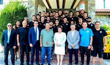 """سفيرة مصر في قبرص تزور معسكر فريق الزمالك بمدينة """"اجروس"""""""