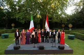 عرض فني مشترك بين أوبرا القاهرة وأوبرا سان كارو بنابولي باحتفال السفارة المصرية  في روما بالعيد الوطني |صور