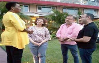 السيدة الأولى في بوروندي تلتقى وفد شركة المقاولون العرب