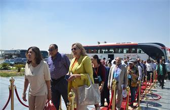 المصريون بالخارج يزورون مجمع اﻷسمدة الفوسفاتية بمدينة الجلالة