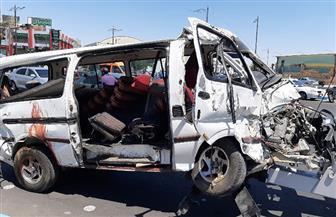 مصرع شخصين في حادث تصادم بين ميكروباص وموتوسيكل بالدقهلية