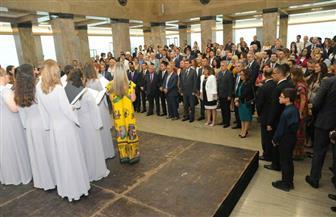 المقتنيات الأثرية وفرقة رضا باحتفال سفارة مصر في بلجراد بالعيد القومي بالمتحف الوطني الصربي | صور