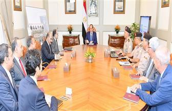 الرئيس السيسي يجتمع مع رئيس الهيئة الهندسية لمتابعة الأعمال الإنشائية بالعاصمة الإدارية الجديدة