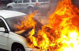 مصرع رجل ونجلته فى حريق سيارة بالقليوبية
