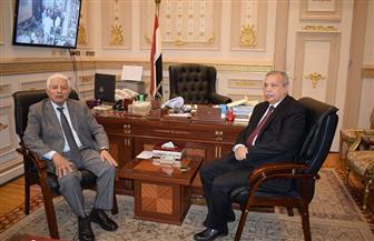 رئيس النيابة الإدارية يقدم التهنئة للمستشار عبدالله عصر بمناسبة توليه منصبه الجديد