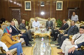 محافظ المنوفية يستقبل رئيس مركز معلومات مجلس الوزراء