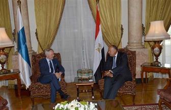 التطورات بالسودان ومكافحة الإرهاب والإصلاح الاقتصادي تتصدر مباحثات وزيري خارجية مصر وفنلندا