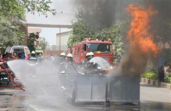 وفد مجلس الوزراء بالمنوفية يشهد تدريبا لمواجهة مخاطر الحريق بشركة العربي للصناعات الهندسية بقويسنا | صور