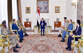 الرئيس السيسي يستقبل رئيس هيئة الأركان المشتركة السودانية