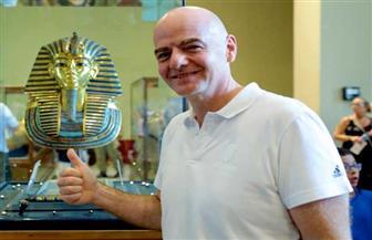 رئيس الفيفا في جولة داخل المتحف المصري بالتحرير | صور