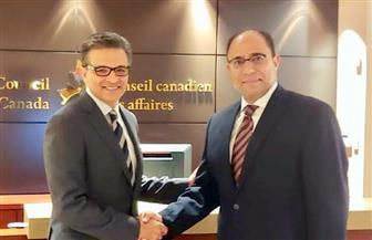 سفير مصر في كندا يناقش مع رئيس مجلس الأعمال الكندى سبل تعزيز الاستثمارات الكندية في مصر