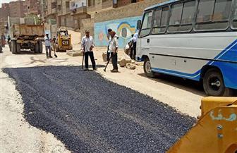 تكثيف أعمال تطوير طريق محطة مسار رحلة العائلة المقدسة بدير درنكة| صور