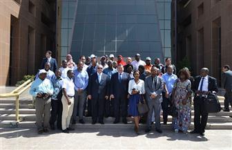 وفد من رؤساء التحرير وكبار الإعلاميين الأفارقة يزور مدينة الإنتاج الإعلامي | صور