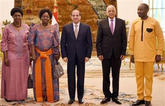 الرئيس السيسي يستقبل رئيسة البرلمان الأوغندي.. ويؤكد دعم مصر للمسار التنموي بدول حوض النيل | فيديو