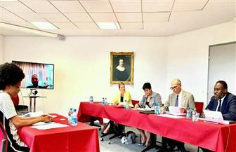 المستشار القانوني للاتحاد الإفريقي تناقش رسالة دكتوراه لطالبة غينية عن التدخل الإنسانى بالقوة | صور