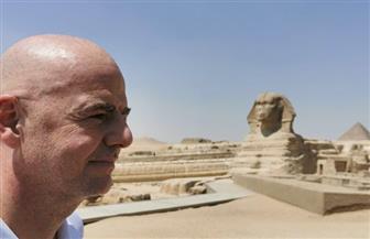 رئيس الاتحاد الدولي لكرة القدم يزور منطقة أهرامات الجيزة |صور