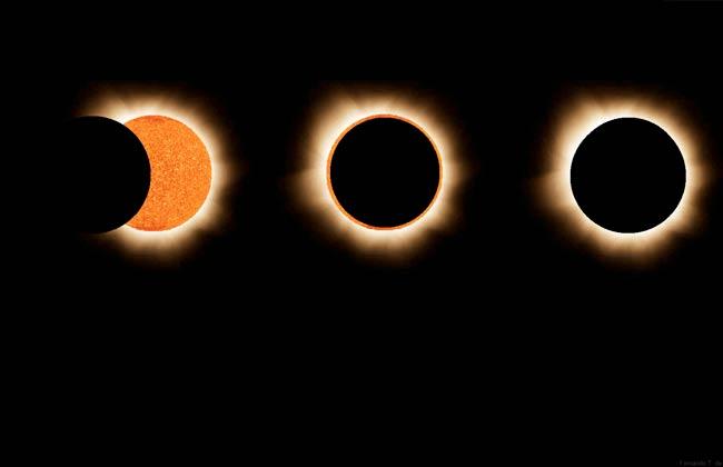شكل كسوف الشمس